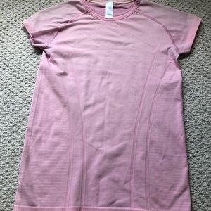 Ivivva Pink Fly Tech Short Sleeve size 14 girls